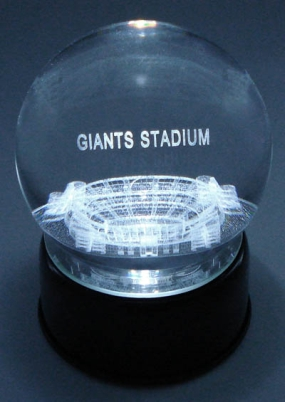 GIANTS STADIUM ETCHED IN CRYSTAL