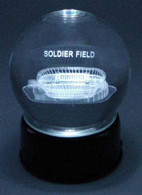 SOLDIER FIELD ETCHED IN A CRYSTAL