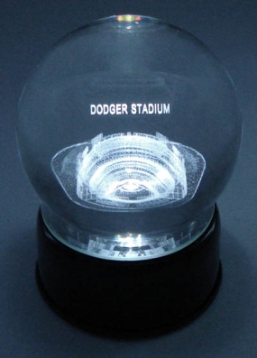 DODGER STADIUM ETCHED IN CRYSTAL