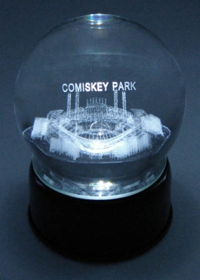 COMISKEY PARK ETCHED IN CRYSTAL