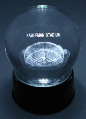 KAUFFMAN STADIUM ETCHED IN CRYSTAL