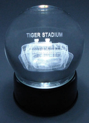 TIGER STADIUM ETCHED IN CRYSTAL