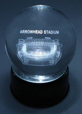 ARROWHEAD STADIUM ETCHED IN CRYSTAL