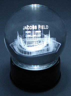 JACOBS FIELD ETCHED IN CRYSTAL