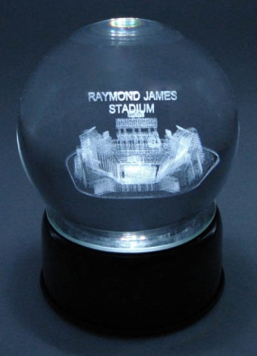 RAYMOND JAMES STADIUM REPLICA ETCHED IN CRYSTAL
