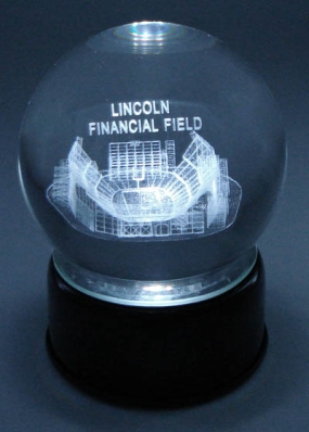 LINCOLN FINANCIAL STADIUM ETCHED IN CRYSTAL