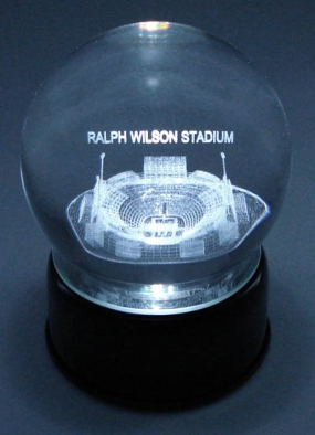 RALPH WILSON STADIUM ETCHED IN CRYSTAL