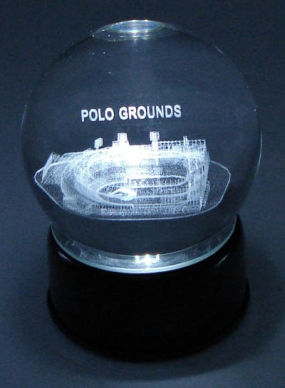POLO GROUNDS ETCHED IN CRYSTAL