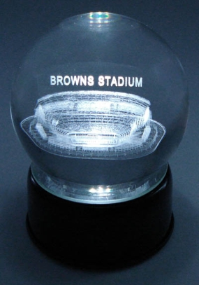 BROWNS STADIUM ETCHED IN CRYSTAL