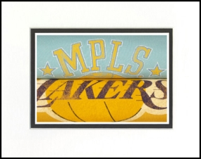 Los Angeles Lakers Vintage T-Shirt Sports Art