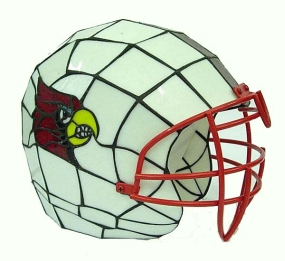 Louisville Cardinals Glass Helmet Lamp