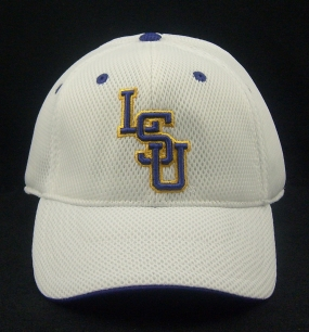 LSU Tigers White Elite One Fit Hat