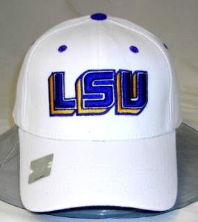 LSU Tigers White One Fit Hat