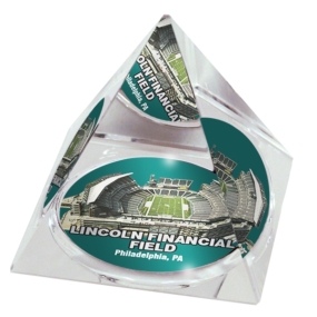 Philadelphia Eagles Crystal Pyramid