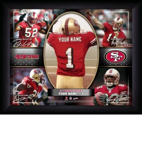 San Francisco 49ers Personalized Action Collage Print