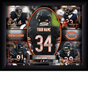 Chicago Bears Personalized Action Collage Print