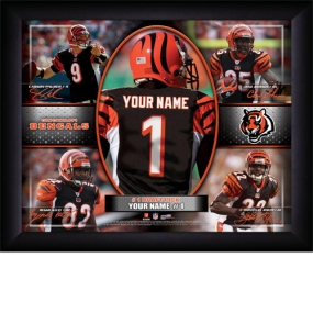 Cincinnati Bengals Personalized Action Collage Print
