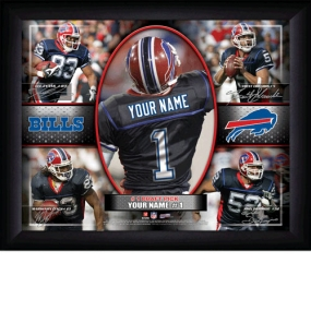 Buffalo Bills Personalized Action Collage Print