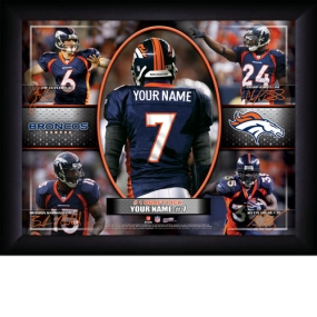 Denver Broncos Personalized Action Collage Print