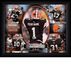 Cleveland Browns Personalized Action Collage Print