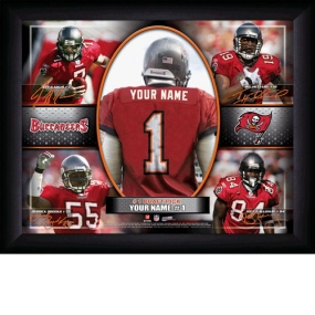 Tampa Bay Buccaneers Personalized Action Collage Print