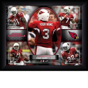 Arizona Cardinals Personalized Action Collage Print