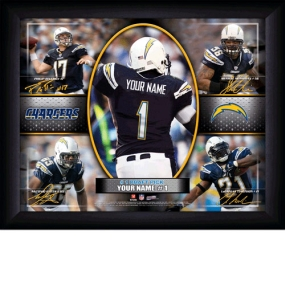 San Diego Chargers Personalized Action Collage Print