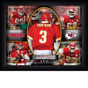 Kansas City Chiefs Personalized Action Collage Print