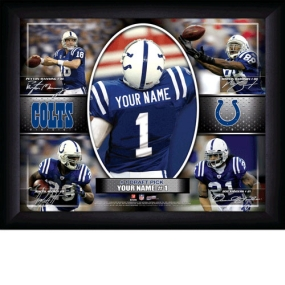 Indianapolis Colts Personalized Action Collage Print