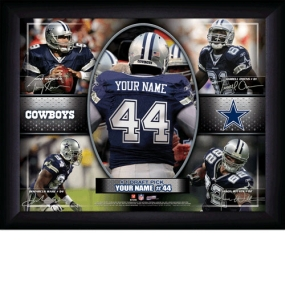 Dallas Cowboys Personalized Action Collage Print