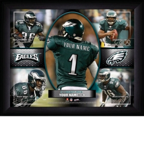 Philadelphia Eagles Personalized Action Collage Print