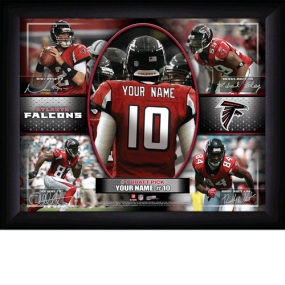 Atlanta Falcons Personalized Action Collage Print