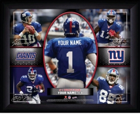 New York Giants Personalized Action Collage Print