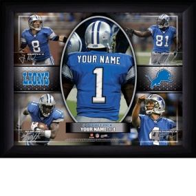 Detroit Lions Personalized Action Collage Print