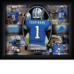 Detroit Lions Personalized Action Collage Print