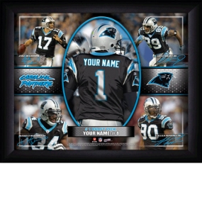 Carolina Panthers Personalized Action Collage Print