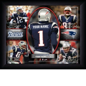 New England Patriots Personalized Action Collage Print