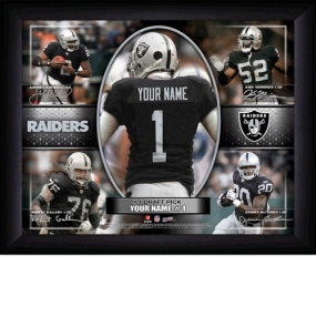 Oakland Raiders Personalized Action Collage Print