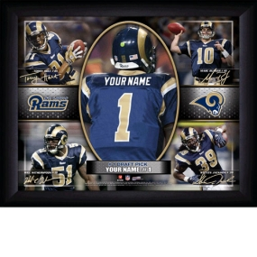 Saint Louis Rams Personalized Action Collage Print