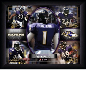 Baltimore Ravens Personalized Action Collage Print