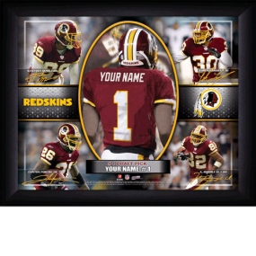 Washington Redskins Personalized Action Collage Print