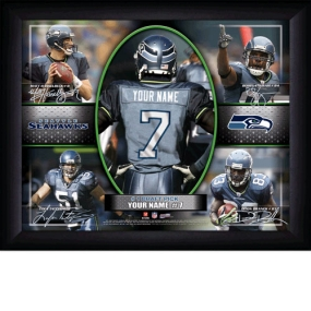 Seattle Seahawks Personalized Action Collage Print