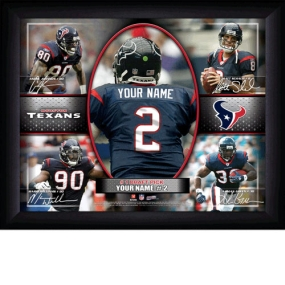 Houston Texans Personalized Action Collage Print