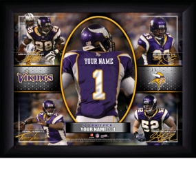 Minnesota Vikings Personalized Action Collage Print