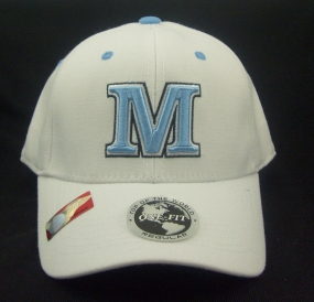 Maine Black Bears White One Fit Hat