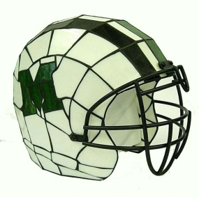 Marshall Thundering Herd Glass Helmet Lamp