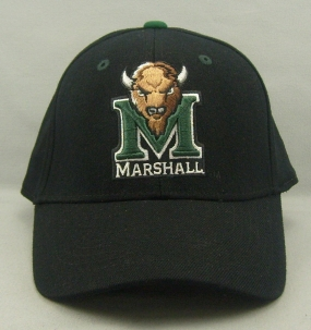 Marshall Thundering Herd Black One Fit Hat
