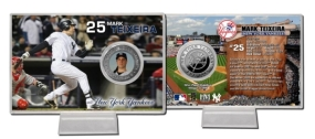 Mark Teixeira Silver Plate Coin Card