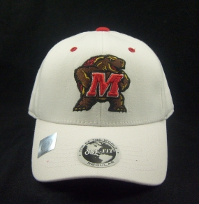 Maryland Terrapins White One Fit Hat