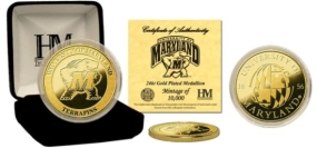 University of Maryland 24KT Gold Coin